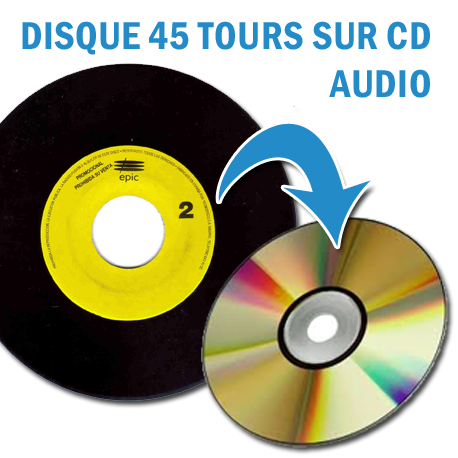 copie de disques vinyles 45 tours sur cd audio partir de. Black Bedroom Furniture Sets. Home Design Ideas