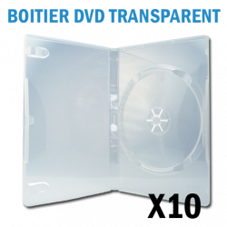 Boitier 1 DVD CLEAR (transparent)
