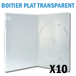 Boitier 1 DVD plat (SLim) TRANSPARENT