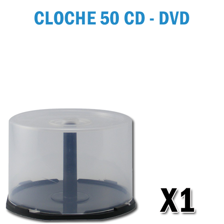 cloche vide en plastique transparent pour rangement de 50 cd ou dvd. Black Bedroom Furniture Sets. Home Design Ideas