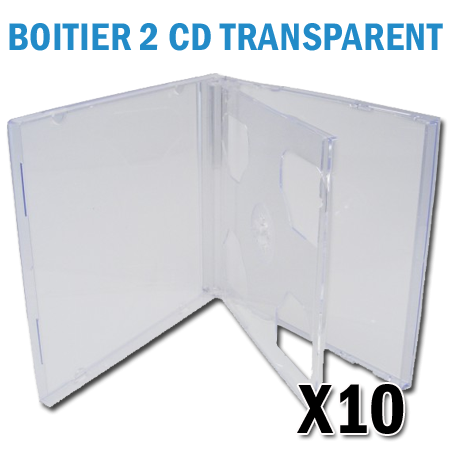 Boitier 2 CD transparent