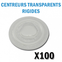 Centreurs Rigides transparents pour CD ou DVD