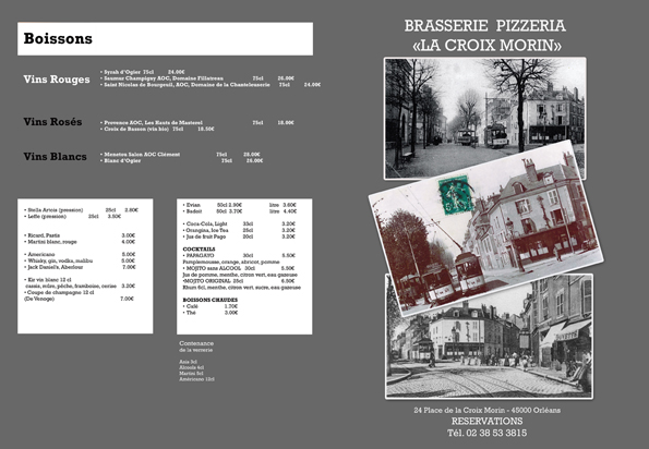 EXEMPLE DE CARTE DE PIZZERIA