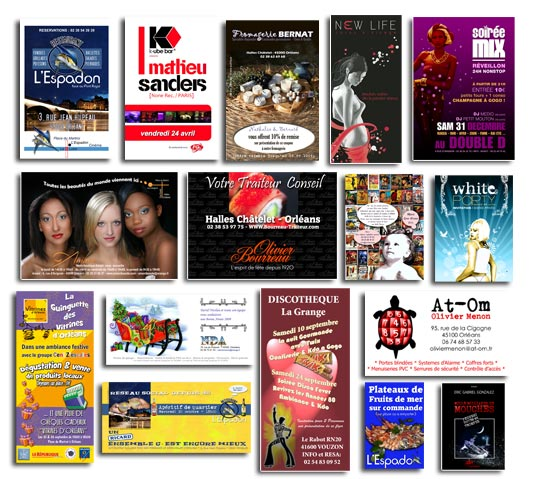 Flyers, Bristols, invitations, cartes de vœux, prospectus, publicité, remerciements, prospection, mailing, inaugurations…